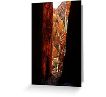 Standley Chasm,McDonell Ranges,N.T. Greeting Card