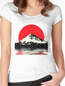 Mount Fuji Women's Fitted Scoop T-Shirt