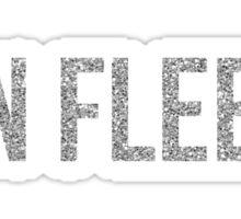 On Fleek - Silver Glitter Sticker