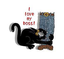 I 'love' my boss! Photographic Print
