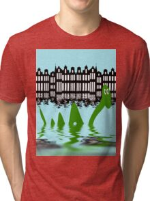 Loch Ness Monster on holiday in Amsterdam Tri-blend T-Shirt
