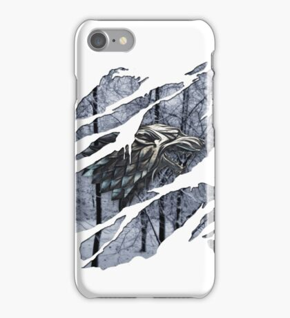 Stark house sigil winter ripped iPhone Case/Skin