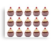 Knitted Cupcake Canvas Print