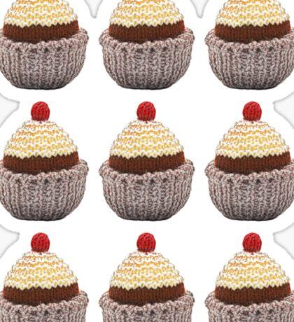 Knitted Cupcake Sticker