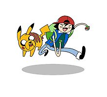 Pokemon Adventure Time Photographic Print