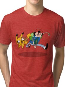 Pokemon Adventure Time Tri-blend T-Shirt