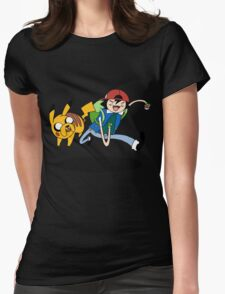 Pokemon Adventure Time Womens Fitted T-Shirt