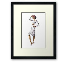 Striped & Chic Framed Print