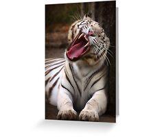 The Big Yawn Greeting Card