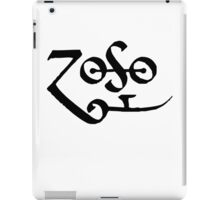 Led Zeppelin Jimmy Page Zoso iPad Case/Skin