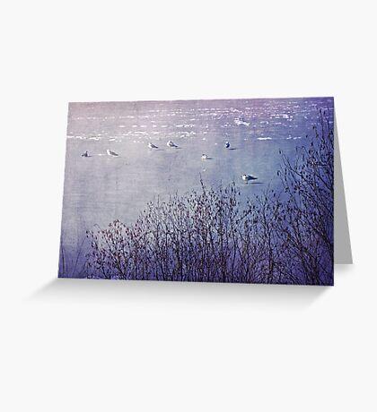 Winter in Purple Greeting Card