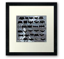 evolution of batman logos Framed Print