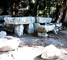 Stone Benches of Taormina by phil decocco
