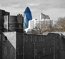 Giant Gherkin Stalks Tower Of London, Residents Flee by Al Bourassa