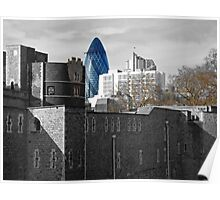 Giant Gherkin Stalks Tower Of London, Residents Flee Poster