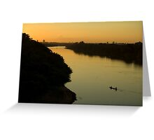 Golden River Zen Ficher Greeting Card