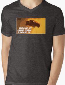 DRIVE FAST. LIVE FURIOUS. Mens V-Neck T-Shirt