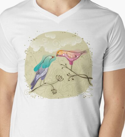 pair of love birds Mens V-Neck T-Shirt