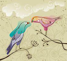 pair of love birds by nuanz