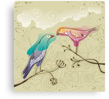 pair of love birds Canvas Print