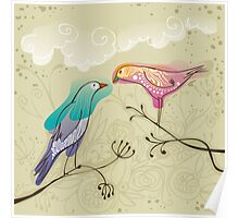 pair of love birds Poster