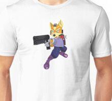 Fox McCloud Starfox Melee Blue Design Unisex T-Shirt