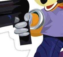 Fox McCloud Starfox Melee Blue Design Sticker