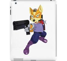 Fox McCloud Starfox Melee Blue Design iPad Case/Skin