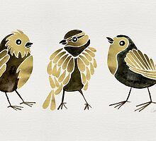 24-Karat Goldfinches by Cat Coquillette