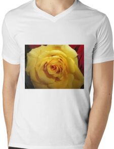 Gifted Yellow Rose Mens V-Neck T-Shirt
