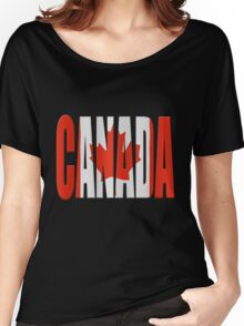 Canada flag Women's Relaxed Fit T-Shirt