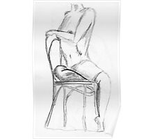 Nude in Pencil Poster