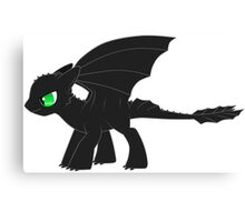 MLP Toothless Canvas Print