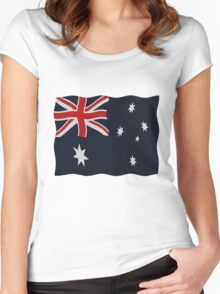 Australia flags Women's Fitted Scoop T-Shirt
