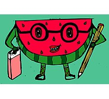 Watermelon geek Photographic Print