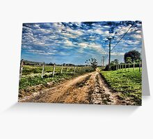 Old slave farm at Saquarema county, RJ - Brazil Greeting Card