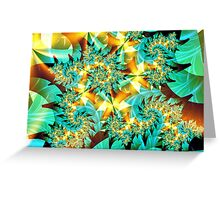 Green Lights Greeting Card