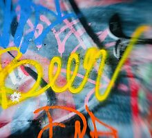Abstract Graffiti Wall Art Photography - Have a Beer! by KMRyan