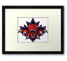 NSL Dino Purple Leaf Framed Print