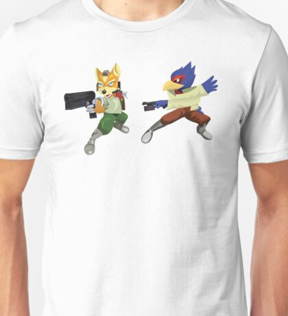 Fox and Falco StarFox Melee Design Unisex T-Shirt