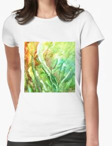 Sea Grass Womens Fitted T-Shirt