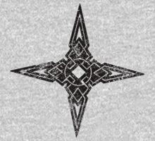 Skyrim Distressed Dawnstar Logo B&W by sansasnark