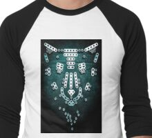 Night Habitat...Panther Men's Baseball ¾ T-Shirt