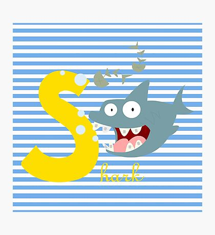 s for shark Photographic Print