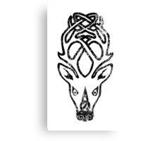 Skyrim Distressed Falkreath Logo B&W Canvas Print