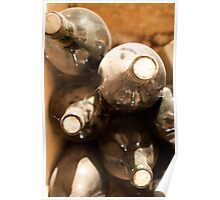 Old French Wine Bottles Poster