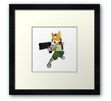 Nintendo Fox McCloud StarFox Melee Design Framed Print
