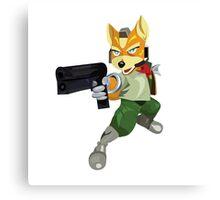 Nintendo Fox McCloud StarFox Melee Design Canvas Print