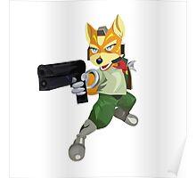 Nintendo Fox McCloud StarFox Melee Design Poster