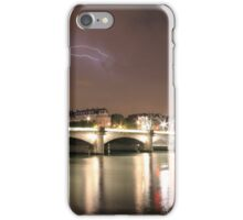 Paris & River Seine by night - the sky was alight  iPhone Case/Skin